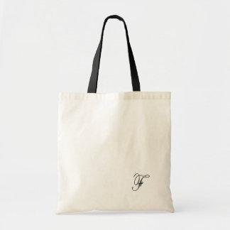 Monogram Small White Tote Bag