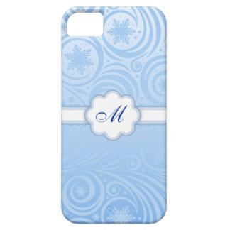 Monogram Snowflake Swirls iPhone 5 Case
