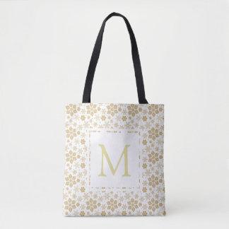 Monogram Snowflake Tote Bag