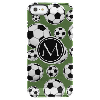 Monogram Soccer - Tree Top Clear iPhone SE/5/5s Case