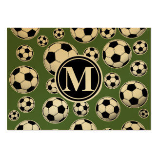 Monogram Soccer - Tree Top Pack Of Chubby Business Cards