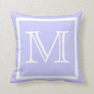 MONOGRAM Solid color pastel lavender light Purple Cushion