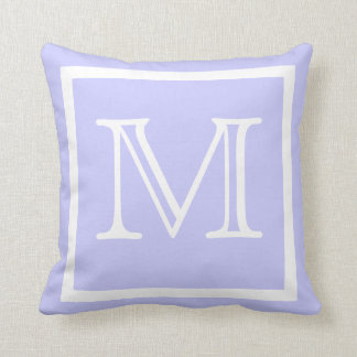 MONOGRAM Solid color pastel lavender light Purple Throw Pillow