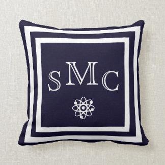 MONOGRAM Solid dark blue plain pillow