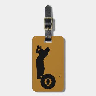 Monogram Sports Black Gold Golf Luggage Travel Luggage Tag