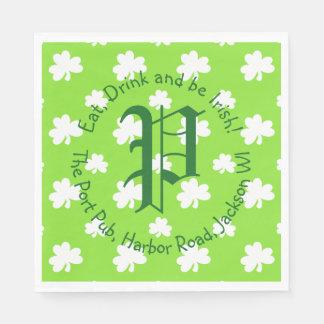 Monogram St. Patrick's Day Party Paper Napkin
