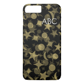 MONOGRAM STARS AND MOON by Slipperywindow iPhone 8 Plus/7 Plus Case