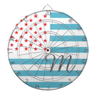 Monogram Stars and Stripes Dartboard With Darts