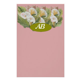 monogram stationary stationery paper