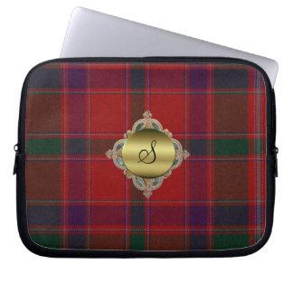Monogram Stewart Tartan Plaid Laptop Cover