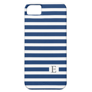 Monogram Striped Navy Phone Case