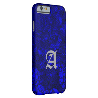 Monogram Style Blue iPhone cover