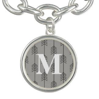 Monogram / Stylish Arrows / Gray
