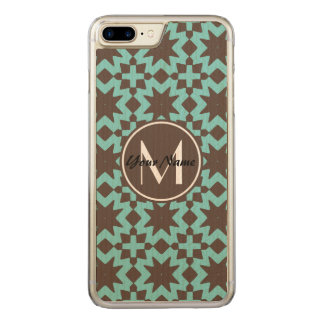 Monogram Stylish Chic Decorative Pattern Carved iPhone 8 Plus/7 Plus Case