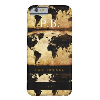 monogram stylish world-map barely there iPhone 6 case