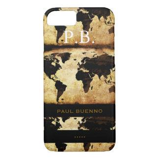 monogram stylish world-map iPhone 7 case