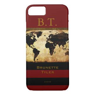 monogram stylish world-map new iPhone 7 case