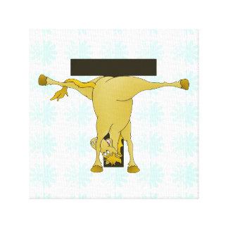 Monogram T Funny Pony Personalized Canvas Prints