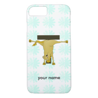 Monogram T Funny Pony Personalized iPhone 7 Case