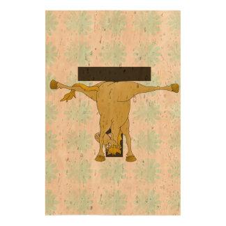Monogram T Funny Pony Personalized Cork Paper