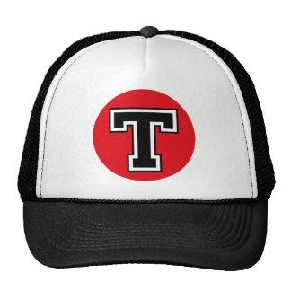 """Monogram """"T"""" Initial Trucker Hats"""
