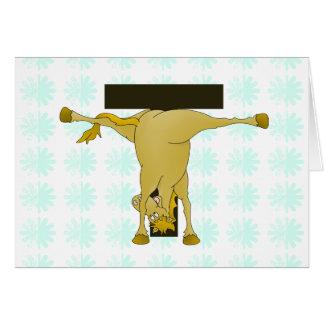 Monogram T Pony Horse Personalised Greeting Cards