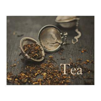 Monogram Tea Wood Print