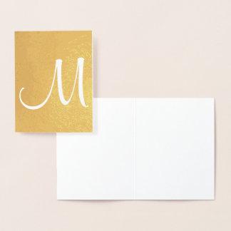 Monogram Template Initial Foil Card