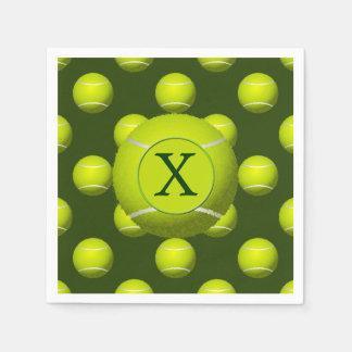 Monogram Tennis Balls Sports pattern, Disposable Serviette