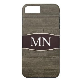 Monogram Texture faux wood grain iPhone 8 Plus/7 Plus Case