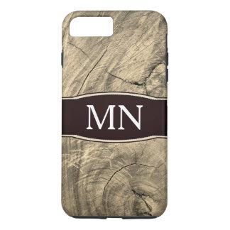 Monogram Texture wood grain iPhone 8 Plus/7 Plus Case