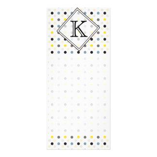 Monogram Tiny Polka Dots Pattern Customized Rack Card