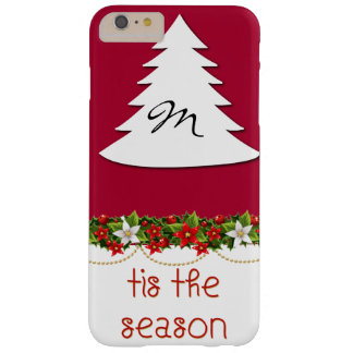 Monogram Tis The Season Holiday Phone Case Barely There iPhone 6 Plus Case