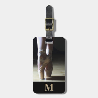 Monogram Travel Ballet Toe Dance Shoes Luggage Tag
