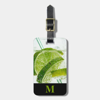 Monogram Travel Cocktail with Limes Luggage Tag