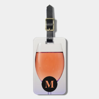 Monogram Travel Glass of Wine Luggage Tag
