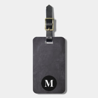 Monogram Travel Gray Chalkboard Luggage Tag