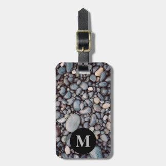 Monogram Travel Gray Rock Pebbles Luggage Tag