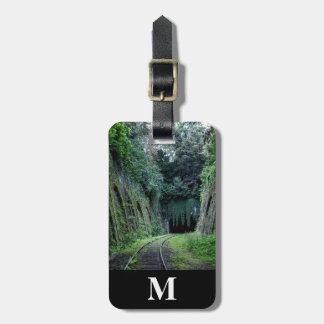 Monogram Travel Railroad Tracks thru Mountains Luggage Tag
