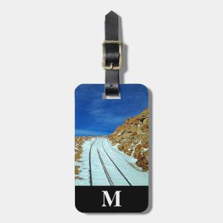 Monogram Travel Winter Snow Railroad Tracks Luggage Tag