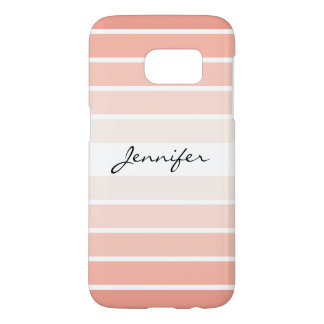 Monogram Trendy Coral Pastel Galaxy S7 Case
