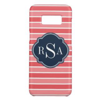 Monogram Trio Watermelon Pink Stripes Pattern Case-Mate Samsung Galaxy S8 Case