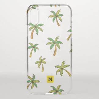 Monogram. Tropical Palm Trees. iPhone X Case