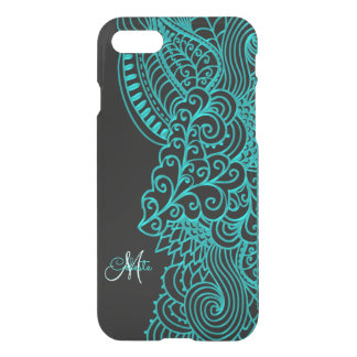 Monogram Turquoise and Black iPhone 7 Case