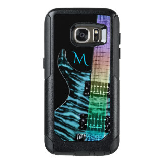 Monogram Turquoise Electric Guitar Music OtterBox Samsung Galaxy S7 Case