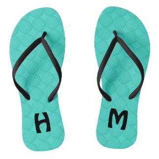 Monogram Turquoise Pattern Thongs