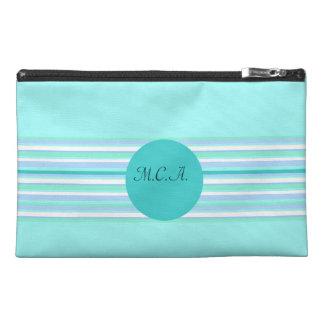 Monogram Turquoise & Turquoise Stripes Travel Accessories Bags