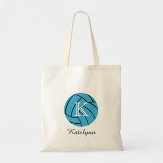 Monogram Turquoise Volleyball Tote Bag Budget Tote Bag