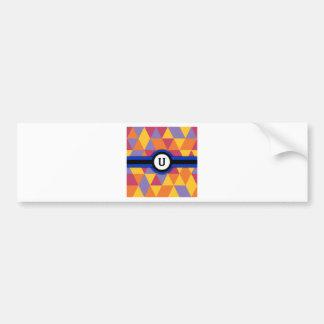 Monogram U Bumper Sticker