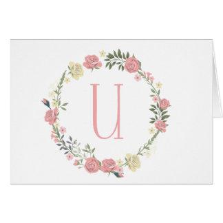 "Monogram ""U"" Card"